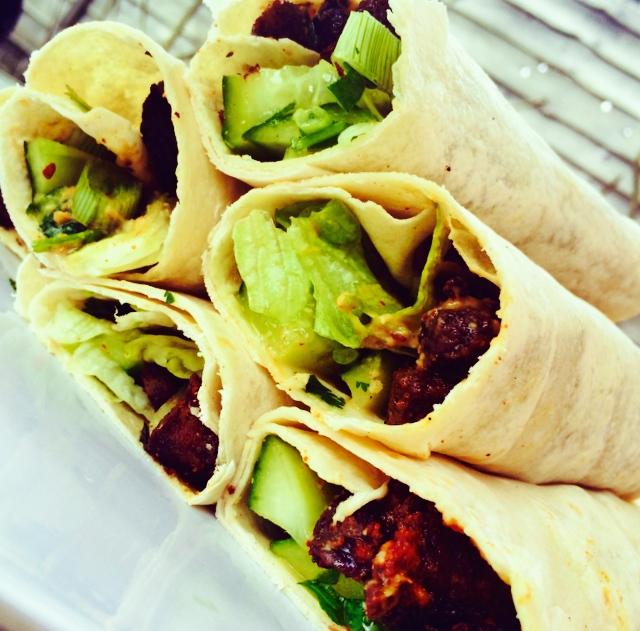 Crispy Mongolian Beef Wraps